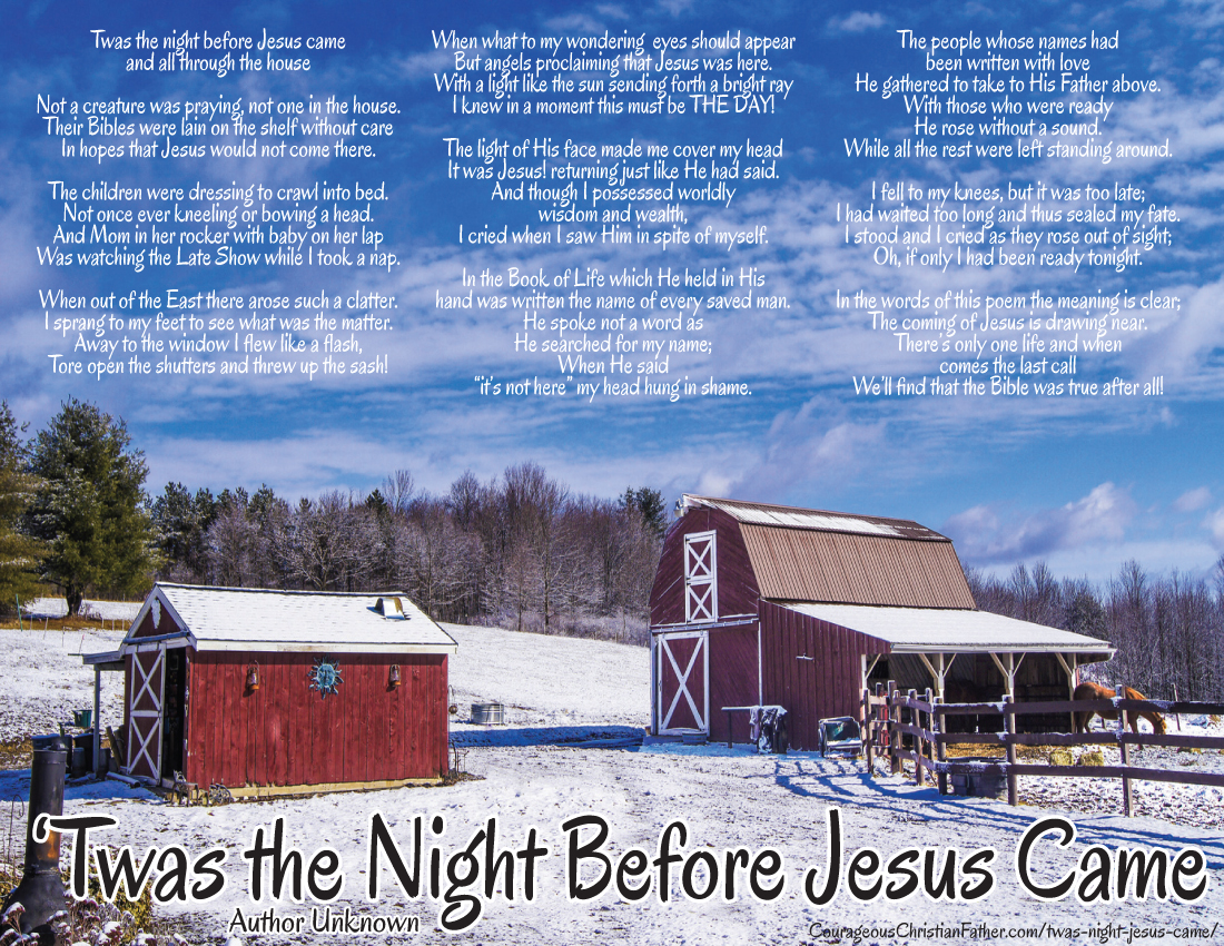 Twas the Night Before Jesus Came